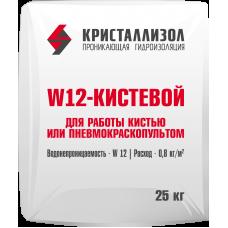 Гидроизоляция Кристаллизол W12 кистевой, 25 кг